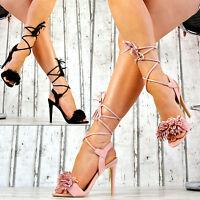 Neu LuXuS Damenschuhe High Heels Riemchen Sandaletten Party Stilettos Sandalen