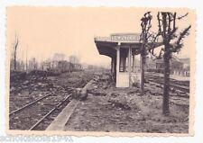 Foto zerstörter Bahnhof von --Montcornet-- Frankreich