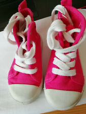 Girls Hello Kitty Pink canvas boots - size 6
