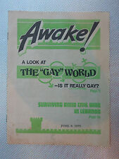 AWAKE! MAGAZINE  - JULY 8 1979 -  WHAT IS NEEDED TO STOP CRIME?