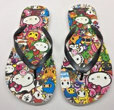 tokidoki for Hello Kitty Flip Flops Women Sz 7-8 Flip Flop Sandals Sanrio thongs