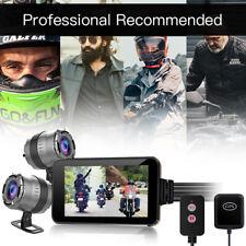 "4"" Touchscreen PIP Dual Lens HD 1080P + 720P Motorbike GPS Dash Camera Recorder"