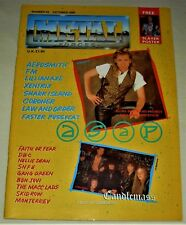 RARE Vintage 1989 METAL FORCES Magazine #43 - CANDLEMASS,SKID ROW,AEROSMITH,FM