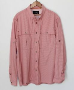 Orvis Open Air Caster Fishing Long Sleeve Shirt Vented Quick Dry Red Mens Medium