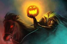 Headless Horseman   -  Wall  Poster - 34 in x 22 in - Fast Shipping