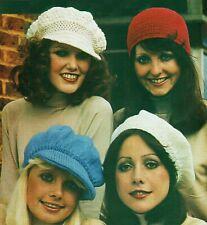WOMEN'S HAT PATTERNS, Knitting pattern, Crochet pattern, Aran, Vintage pattern.