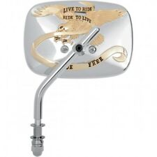 Mirror Live to Ride Right Chrome/gold - EMGO 20-31704a