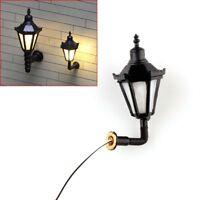 10 pcs HO Scale 1:100 Model Railway 3V LED Lamppost Lamps Wall Lights