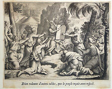 Gravure Etching Kupferstich Bible de Royaumont Sébastien Leclerc Dieu Tables