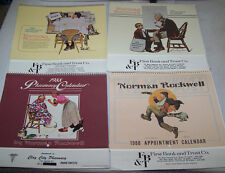 4 Advertising Calendars Unused w Norman Rockwell Art 1980's - 48 Prints to Frame