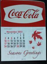 NEW 2014 White fishtail  Coke dash calendar