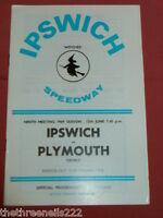 SPEEDWAY PROGRAMME - IPSWICH V PLYMOUTH - JUNE 12 1969