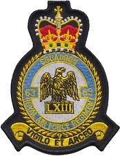 numéro 63 Escadron régiment de RAF Royal Air Force mod écusson patch brodé
