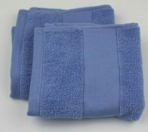 (2) Lauren Ralph Lauren Wescott Cotton Face Towel Wash cloth 13x13 IRIS Blue