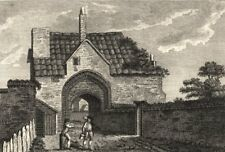 ESSEX. Abbey of Stratford Langthorne . Copperplate (Grose) 1787 old print