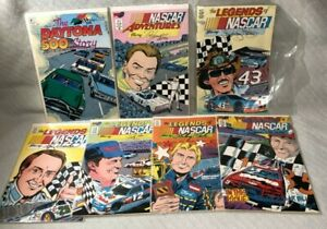Vortex Comics Book LOT of 7 The Legends of NASCAR, NASCAR Adventures Comic Books