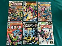 6 Unread Marvel Bronze Age Comics - NM (9.4) with White Pages