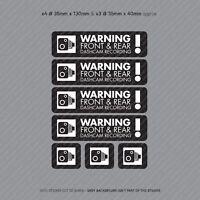7 x Dash Cam Recording Stickers CCTV In Car Video Camera Decal Sticker - SKU3151