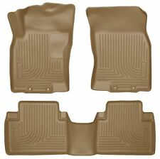 Husky Liners WeatherBeater Floor Mats - 3pc- 98673- For Nissan Rogue 14-18 - Tan