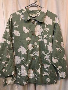 Orvis Floral Green 2 Piece Outfit Capri Set 20