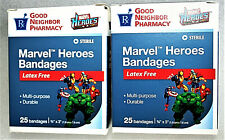 2 Boxes RX Good Neighbor Pharmacy Marvel Heroes Bandages Comics NOS New 2011