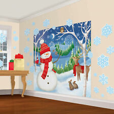 North Pole Mega Value Christmas Party Scene Setter Wall Decorating Kit