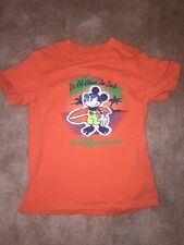 Childrens Disney Mickey Mouse Orange T-shirt Large Perfect Preowned Condition