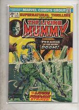 THE LIVING MUMMY   No 9 by MARVEL COMICS  V FINE  1974