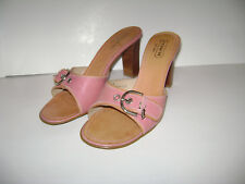 COACH DARYN A8172 LEATHER Size 9 B PINK SHOES SANDALS WOMAN SLIDES HEELS ITALY