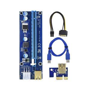 Ethereum PCI-E 1x to 16x Powered USB3.0 GPU Riser Extender Adapter Card VER 009s