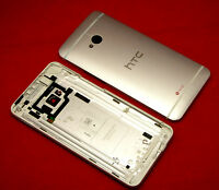 Original HTC One M7 Akkudeckel Gehäuse Backcover Battery Cover Housing Silver