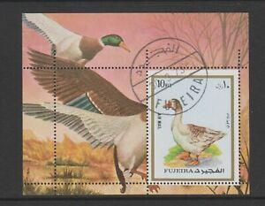 Fujeira - 1973 , Gänse, Vögel Blatt - F/U