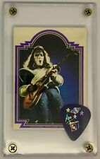 NEW KISS Ace Frehley last tour guitar pick & '78 Donruss trading card display #2