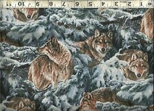 Springs ~ Narragansett Creek WOLF Wolves ~ 100% Cotton Quilt Fabric BTY