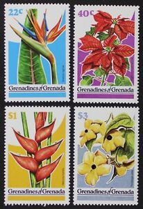 Z662 GRENADINES of GRENADA #313-16 Flowers Mint NH