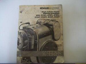 KOHLER ENGINE SERVICE MANUAL K181 K241 K301 K321 K341 etc. free shipping