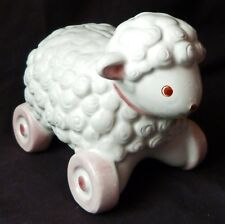 Ceramic Lamb Bank Piggy Bank Nursery Decor