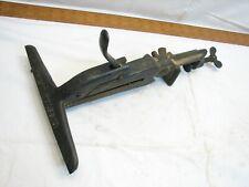 Antique Disston No. 2 Saw Vise Clamp Wood Blade Sharpening Tool Bench Mount