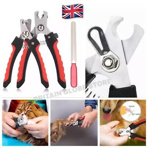 Pet Nail Clippers Scissors Trimmer Dog Cat Grooming with Nail File Large/Medium