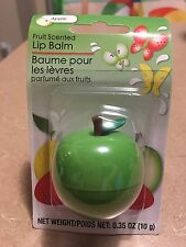 LIP GLOSS FRUIT SCENTED LIP BALM ON A GREEN APPLE FIGURE JAR