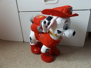 Build A Bear Paw Patrol Marshall plush toy with outfit, pup pack and sounds
