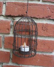 Niedlicher Teelichthalter *Vogelkäfig / Vogelbauer* aus Metall / Draht