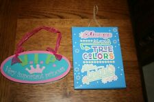 Girls Room Decor VIP Princess & True Colors Shine Bright Plaque Sign Kids