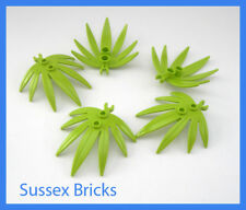 Lego Plants - 5x Lime Swordleaf Leaf 10884 - City Pirates Star Wars Jungle