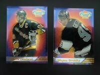 Wayne Gretzky & Mario Lemieux 1993-1994 Topps Stadium Club (Finest) Lot of 2