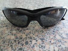 Oakley black frame Straight polarized mirror sunglasses. 12-935.