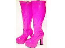 Hot Pink Gogo Boots Womens Knee High Platform Boots - Size 5 UK