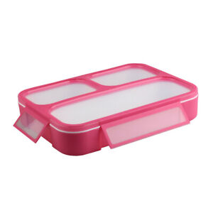 Lunch Box Meal Prep Bento Box 4 Compartment Reusable Microwavable Freezer-Safe