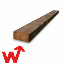 More details for railway sleepers   brown pressure treated timber   2.4m delivered    in stock