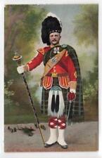 PIPE MAJOR, SEAFORTH HIGHLANDERS: Military postcard (C30865)